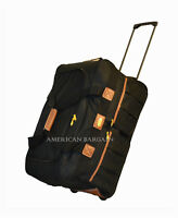 """New 22""""  Polyester Rolling Wheeled Duffel Bag Travel Luggage Suitcase Carry On"""