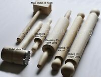 Wood Food Cooking Baking Base Pastry Profiled Rolling Pin Mallet Roller Kitchen