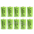 10 x Rechargeable battery For D size 10000mAh 1.2V NiMH