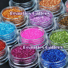 12 Color Metal Glitter Nail Art set Kit Acrylic UV Powder Dust Decoration 1003
