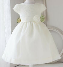 Elegant Satin Lace Flower Girl Dress Pageant Wedding Bridesmaid Communion Church