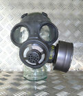 Genuine Black Rubber Gas Mask with Filter. Size Adjustable Medium - Brand NEW