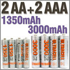 2 AA+2 AAA 1350mAh 3000mAh 1.2V NI-MH rechargeable battery 2A 3A Ultracell