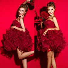 New Red Quinceanera Prom Prom Ball Gown Pageant Cocktail Evening Formal Dresses