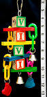 FREE SHIPPING! ABC BOT w/Plastic Chain! - Parrot Toys & Bird Toy Parts