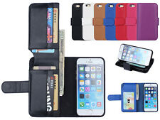 Card Holder Flip Wallet Leather Case Cover For Samsung Galaxy / Apple iPhone New