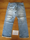 destroyed levi feathered 501 grunge jean tag 35x30 meas 35x28.5 8695F