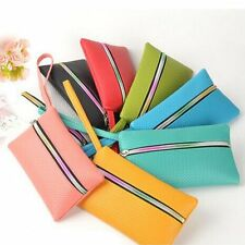 Womens Ladies Fashion Soft Leather Clutch Zipper Purse Card Holder Wallet Bags