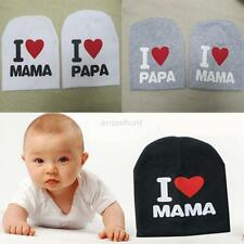 Toddler Boy Girl Baby I LOVE MAMA/PAPA Pattern Cotton Soft Warm Hat Cap Beanie