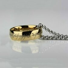Stainless Steel Lord of the Rings Bilbo's Modern Hobbit Ring & Chain