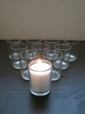 Beautiful Clear Glass Tea Light Votive Candle Holders Wedding Xmas Party Gift