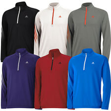 SALE!!!Adidas Golf 3-Stripes Half Zip Pullover Top Mens Cover-Up Golf Sweater