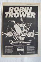 1980 - ROBIN TROWER - Victims Of The Fury + UK Tour Dates - Press Advert Poster