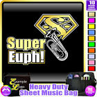 Euphonium Super - Sheet Music & Accessories Personalised Bag by MusicaliTee