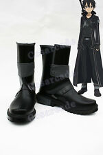 Sowrd Art Online SAO Kirito COSplay Costume Original PU Leather Boots Shoes Prop