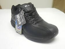 Dr. Scholl's Women's Kimberly Leather Black Oil & Slip Resistant Casual Sneakers