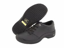 NEW!! Keen Women's PTC Oxford Black Shoes - Oil and Slip Resistant - 1006999