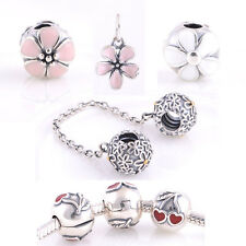 Jaime 925 Solid Sterling Silver Cherry Flowers fit European Bead Charm Bracelet