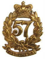 VICTORIAN 57TH MIDDLESEX GLENGARRY BADGE