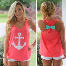 Fashion Women Summer Anchor Vest Sleeveless Top Blouse Casual Tank Tops T-Shirt