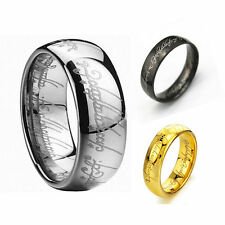 Lord of the Rings The One Ring Lotr Titanium Steel Fashion Men's Ring Size 6-12