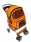 New BestPet Large Orange 4 Wheels Pet Dog Cat Stroller w/RainCover Pet House