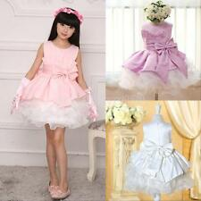 Girls kids Pageant Dress Bridesmaid Prom Party Princess Ball Gown Formal Dress