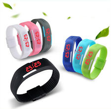 Hot Mens Womens Sports Watch Rubber LED Watch Date Bracelet Digital Wrist Watch