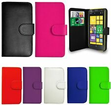 Leather Book/Wallet Cover Case For Microsoft/Nokia Lumia Phone+Screen Protector