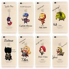 iPhone 6 / iPhone 6s 4.7 clear plastic marvel avengers cartoon case dc comics