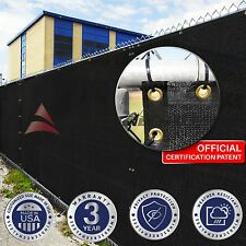 Customize Black 4' 5' 6' 8' (H) Fence Privacy Wind Screen Mesh Outdoor Garden