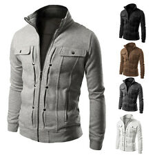 Stylish Men's Slim Winter Coat Jacket Outerwear Overcoat Casual Tops Warm Blazer