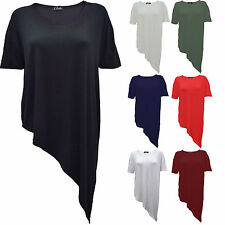 Ladies Womens Wrap Asymmetric Drape Ruched Party Side Split Batwing T-Shirt Top