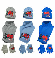 Boys Kids Spiderman Winter Hat, Gloves And Scarf 3 Piece Set 3 - 10 Years