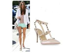 ROCKSTUD decoltè a punta con rivetti 7 colori High heel pointed toe rivets shoes