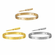 Cartier Screwdriver Love Bangle Bracelet Stainless Steel Unisex 7mm x 7.5'' 19cm