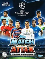 CHAMPIONS LEAGUE Match Attax 2015-2016 (Topps Football) TEAM SETS OF 18 CARDS