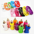 10 Color USB Sync Data Cable Cord USB Car Charger Adapter for iPhone 4 4S LOT