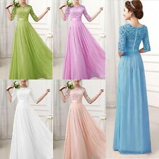 Women Long Chiffon Slim Evening Formal Wedding Party Bridesmaid Cocktail Dresses