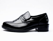 Mens Hidden Elevator Formal Heel Shoes Cow Leather Taller Height Increasing 704