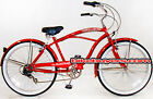 Steel Frame,Micargi Pantera 7-speed men's Beach Cruiser Bike Bicycle, Shimano RD