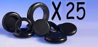 NEW 25 x Rubber grommets 6mm 9mm 16mm 20mm 25mm 32mm 38mm 50mm open and closed