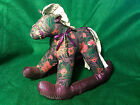 Victorian Fabric Rocking Horse Toy-Cloth Lace-Sparkle Material-Bead-Ribbon