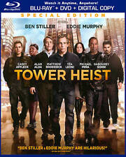 Tower Heist (Blu-ray/DVD, 2012, 2-Disc Set, Special Ed) BRAND NEW WITH SLIPCOVER