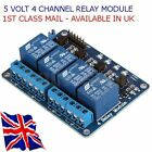 5V 4 CHANNEL ISOLATED RELAY- Suit - ARDUINO- RASPBERRY Pi - Pic Etc.