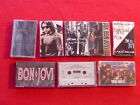 BON JOVI lot of 8 hard rock Pop Metal cassette music tapes