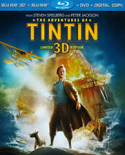 The Adventures of Tintin (Blu-ray/DVD, 2012, 3-Disc Set, Includes Digital...