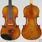 A Great Guarneri 1743 Cannon Style 4/4 Violin M8574 Top oil varnish