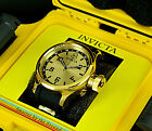 Invicta Men Swiss Russian Diver 18K Gold Plated PINS Poly Strap SS Watch w/1Slot