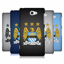 OFFICIAL MANCHESTER CITY MAN CITY FC CREST PIXELS BACK CASE FOR SONY PHONES 4